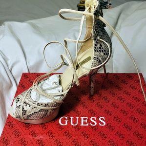 GUESS Snake print heels